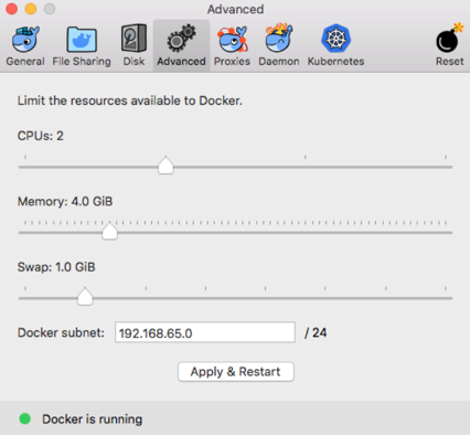 docker for mac advanced